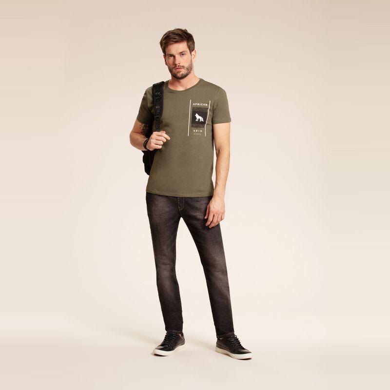 Camiseta manga curta lobo