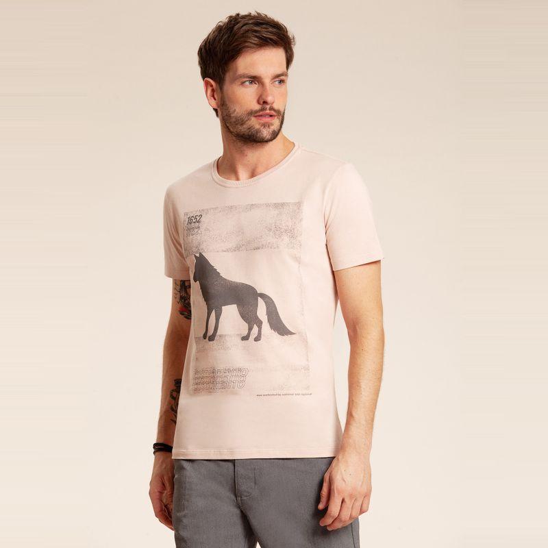 Camiseta manga curta estampa Lobo Rosa Kenya 85102177-1455_1