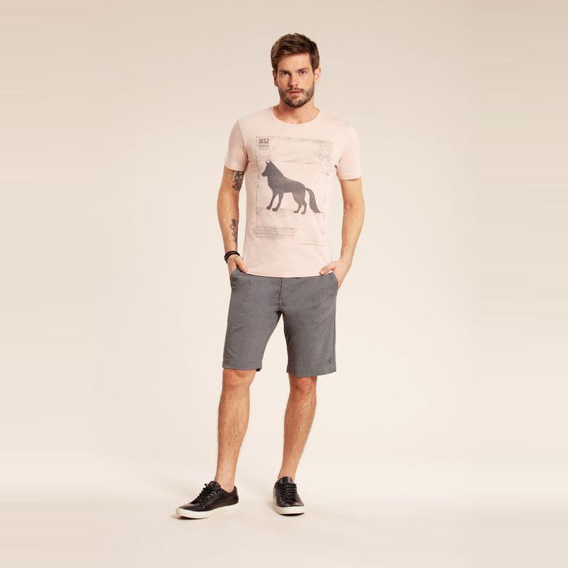 Camiseta manga curta estampa Lobo Rosa Kenya 85102177-1455_2