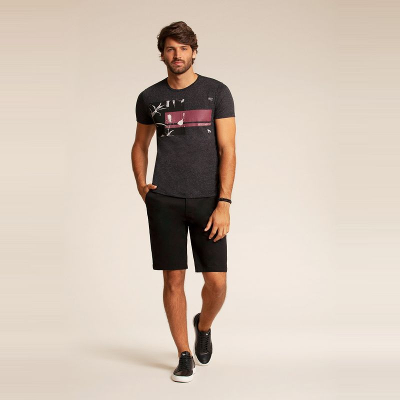 Camiseta manga curta estampa