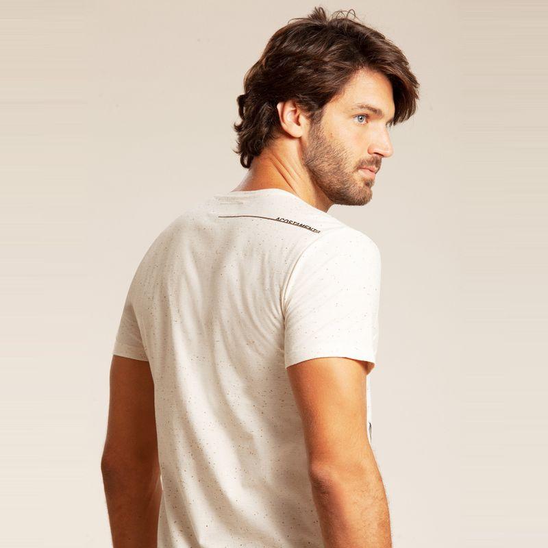 Camiseta resort manga curta estampa floral Off White 85102137-1490_3