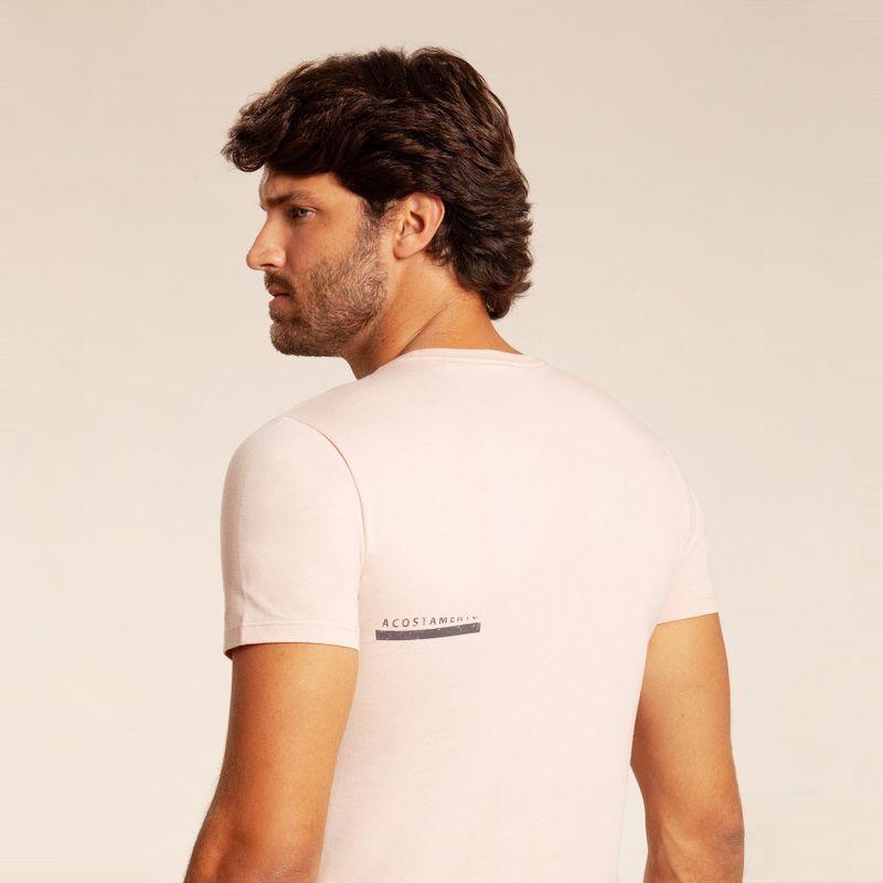 Camiseta manga curta estampa Lobo