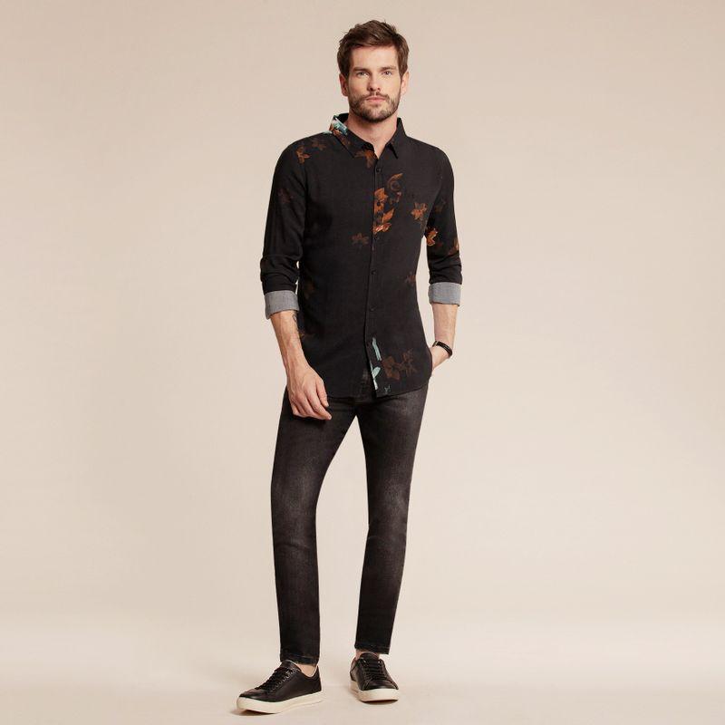 Camisa manga longa estampada