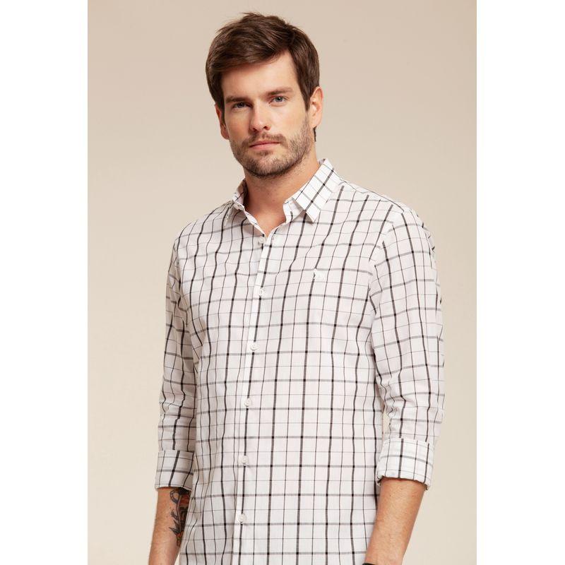 Camisa manga longa xadrez