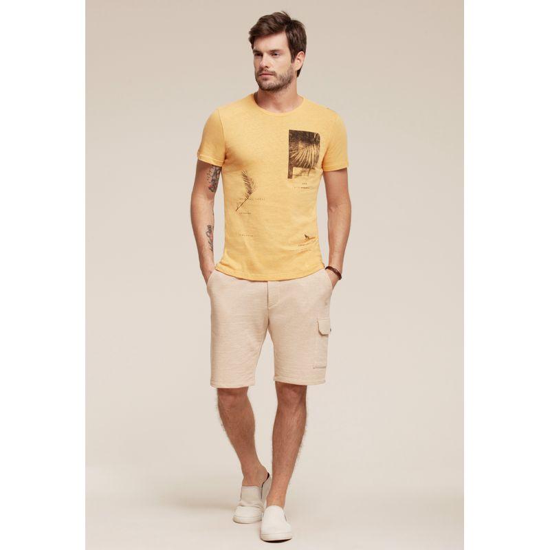 Camiseta React manga curta estampada