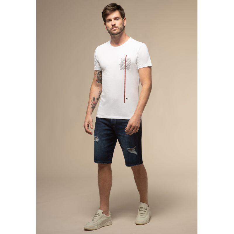 Bermuda Jeans Acostamento Destroyed