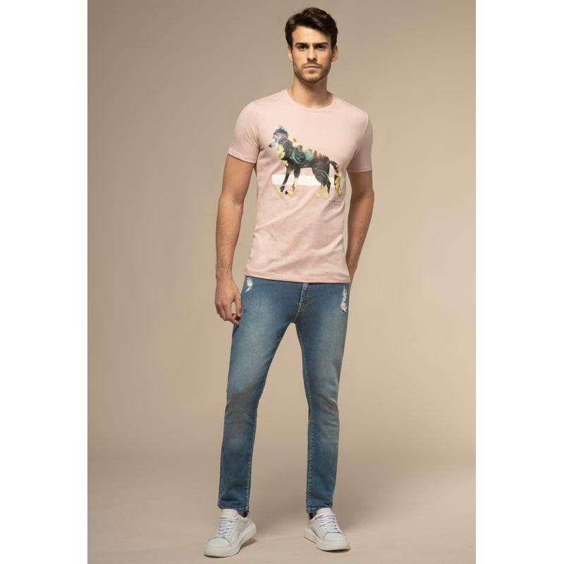 Calça Jeans Acostamento Skinny Destroyed