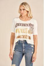 T-Shirt Blanc Lettering Metalizado 88202041_1