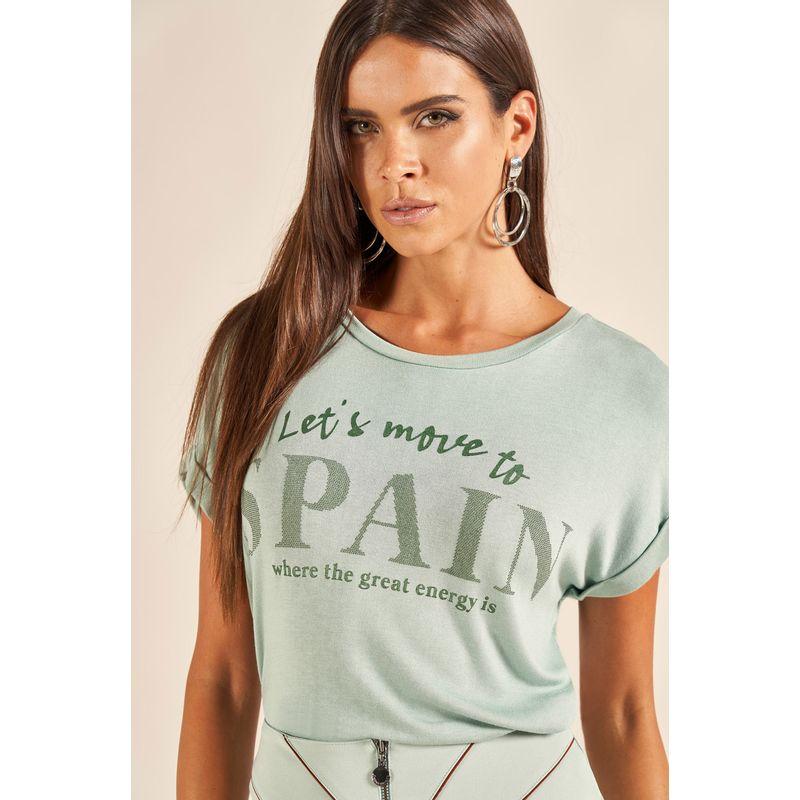 T-Shirt Spain Lettering Brilho