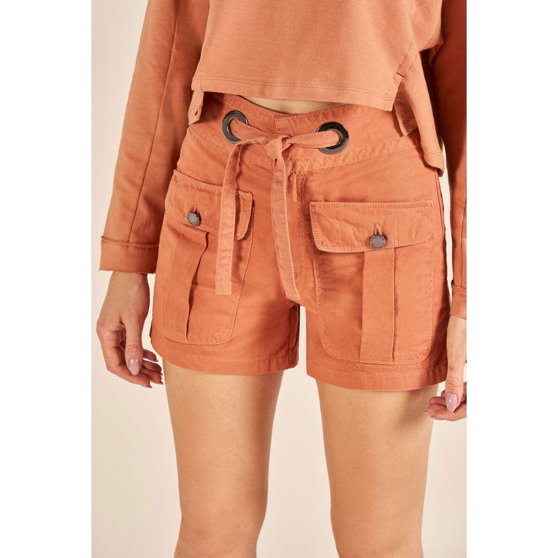 Short Jeans Gigi Detalhe Bolsos