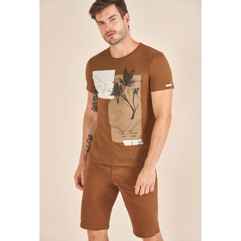 Camiseta Acostamento Resort Estampada